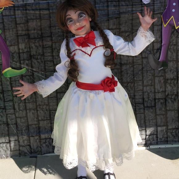 child annabelle inspired costume handmade